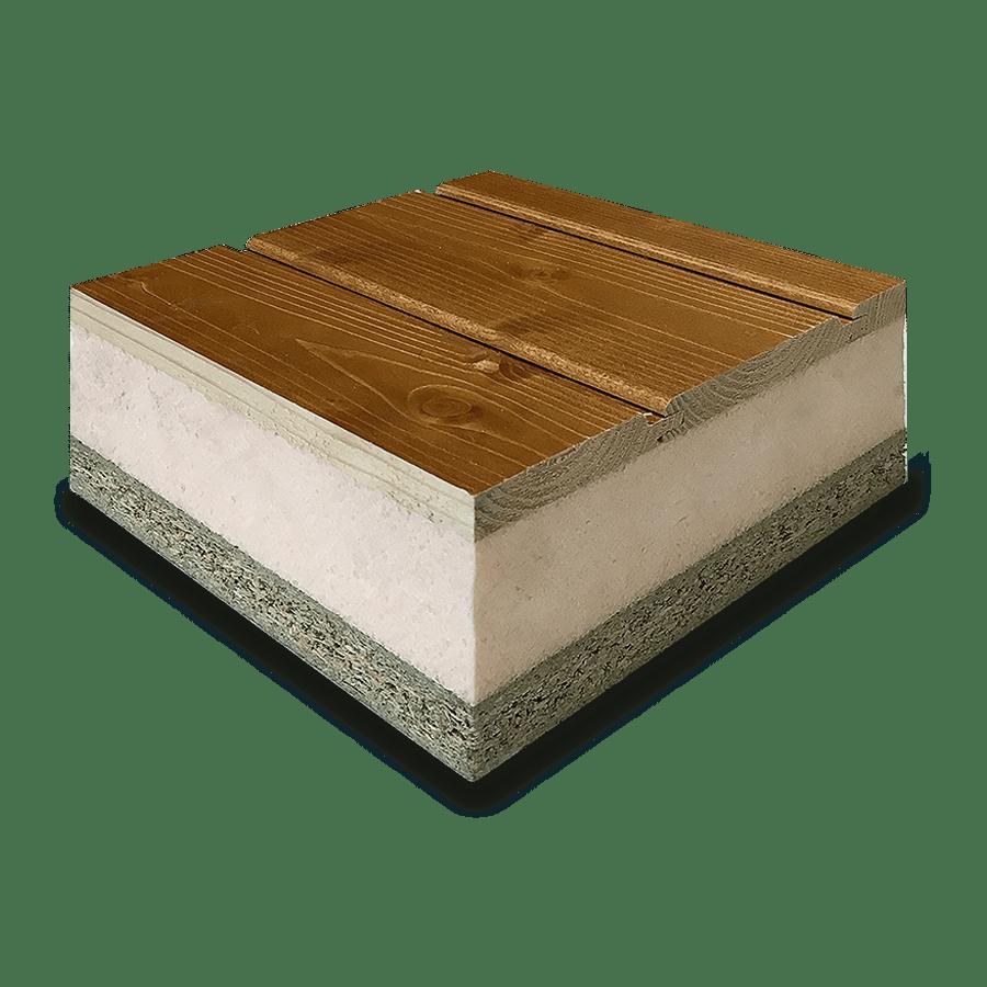 Panel madera abeto barnizado