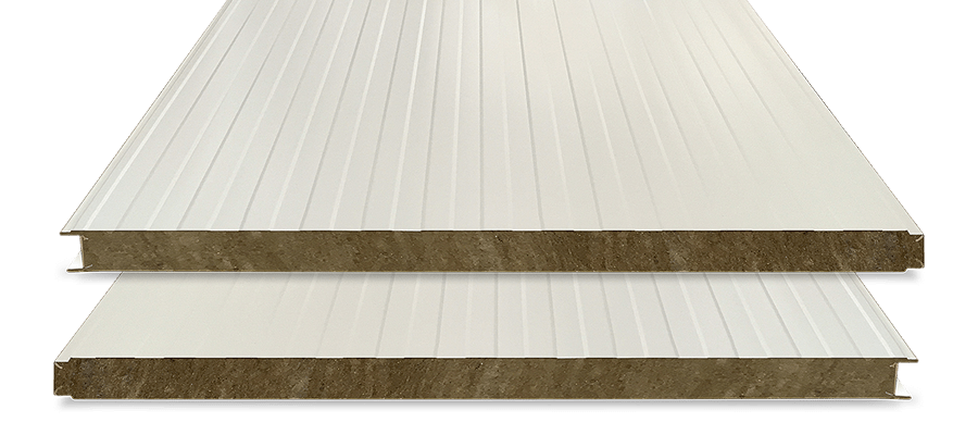 Panel Lana de Roca Fachada 80 Blanco