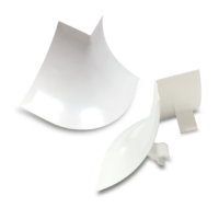Esquina Vértice perfil Sanitario PVC Blanco