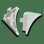 Tapa Exterior Perfil Sanitario PVC Blanco