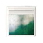 Ventana de Aluminio con persiana Blanco