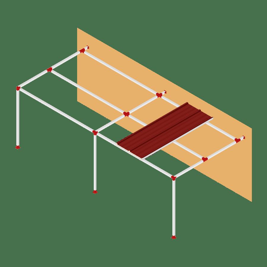 Sider-Sytem panel cubierta sin voladizo
