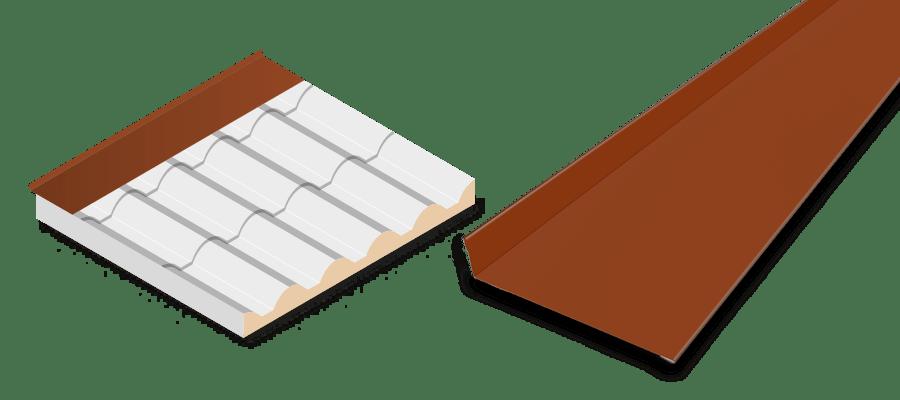 Remate pared trasero teja